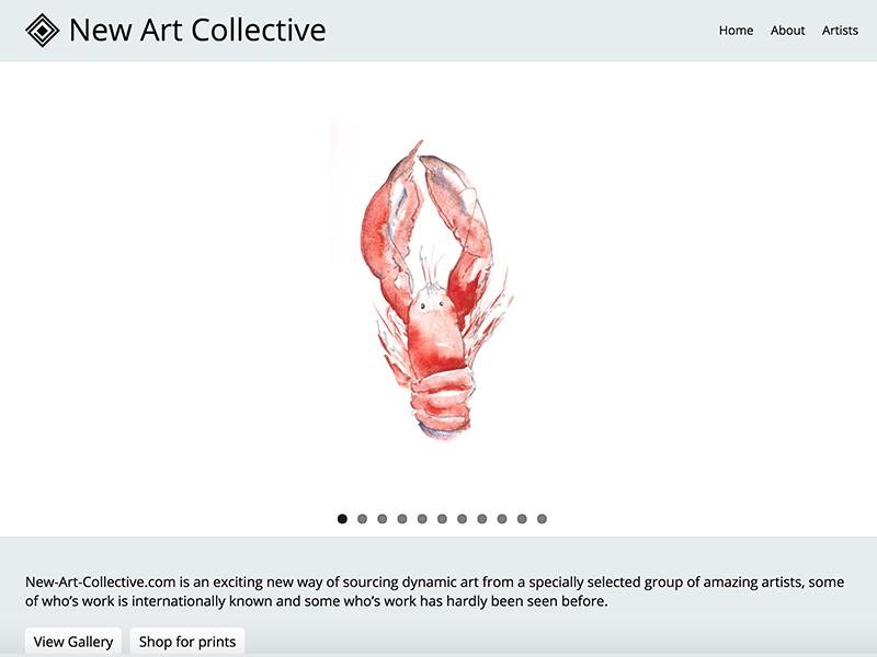 New Art Collective website screenshot